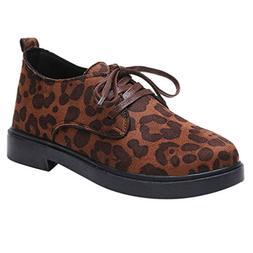 Women Workout Boat Shoes,HunYUN Women Round Toe Flock Lace-U