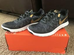 Nike Womens Flex Experience RN 6 Black Gold Running Athletic