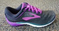 BROOKS Womens Pure Cadence 7 Black Running Athletic Shoes Sz