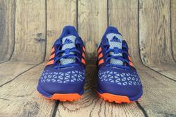 Adidas Zone Dox Field Hockey Turf Trainer Shoes Blue Orange