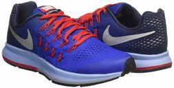 Nike Zoom Pegasus 33 Mens/Big Kids Blue Running Shoes Size 6